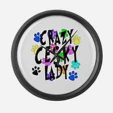 Crazy Cesky Lady Large Wall Clock
