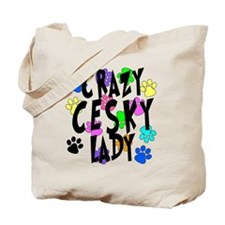 Crazy Cesky Lady Tote Bag