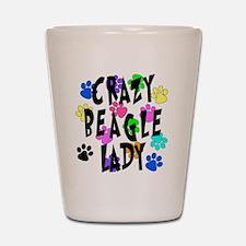 Crazy Beagle Lady Shot Glass