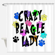 Crazy Beagle Lady Shower Curtain
