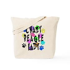 Crazy Beagle Lady Tote Bag