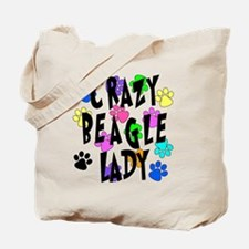Crazy Beagle Lady Tote Bag