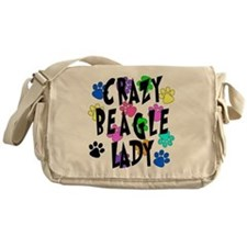 Crazy Beagle Lady Messenger Bag