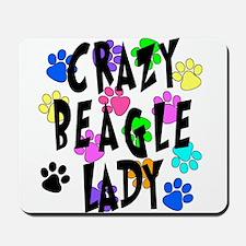 Crazy Beagle Lady Mousepad