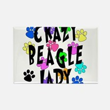 Crazy Beagle Lady Rectangle Magnet