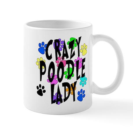 Crazy Poodle Lady Mug