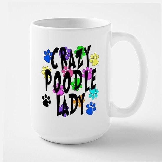 Crazy Poodle Lady Large Mug