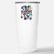 Crazy Poodle Lady Travel Mug