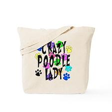 Crazy Poodle Lady Tote Bag