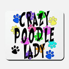 Crazy Poodle Lady Mousepad