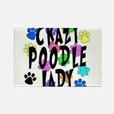 Crazy Poodle Lady Rectangle Magnet