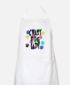 Crazy Pug Lady Apron