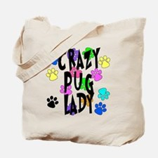 Crazy Pug Lady Tote Bag