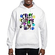 Crazy Sheltie Lady Hoodie