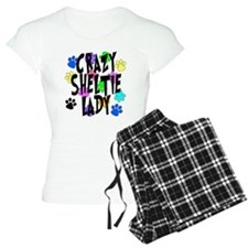 Crazy Sheltie Lady pajamas