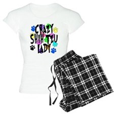 Crazy Shih Tzu Lady Pajamas