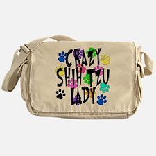 Crazy Shih Tzu Lady Messenger Bag