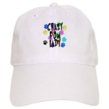 Crazy Pom Lady Baseball Cap