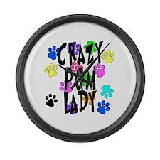 Crazy Pom Lady Large Wall Clock