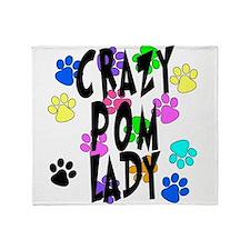 Crazy Pom Lady Throw Blanket