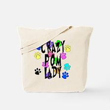 Crazy Pom Lady Tote Bag