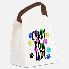 Crazy Pom Lady Canvas Lunch Bag