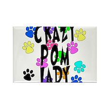 Crazy Pom Lady Rectangle Magnet