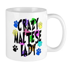 Crazy Maltese Lady Small Mugs