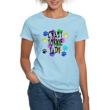 Crazy Yorkie Lady T-Shirt