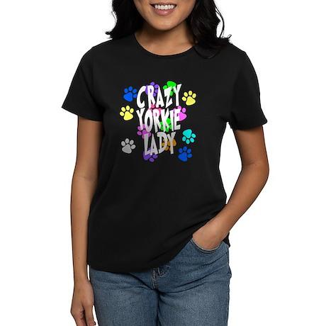 Crazy Yorkie Lady Women's Dark T-Shirt