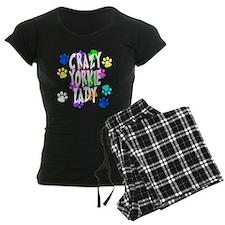 Crazy Yorkie Lady Pajamas