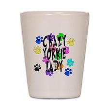 Crazy Yorkie Lady Shot Glass