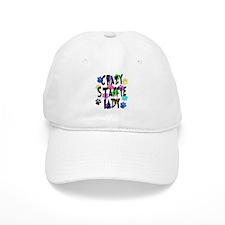 Crazy Staffie Lady Baseball Cap