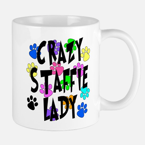 Crazy Staffie Lady Mug