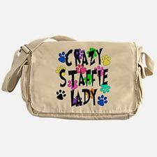 Crazy Staffie Lady Messenger Bag