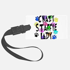 Crazy Staffie Lady Luggage Tag