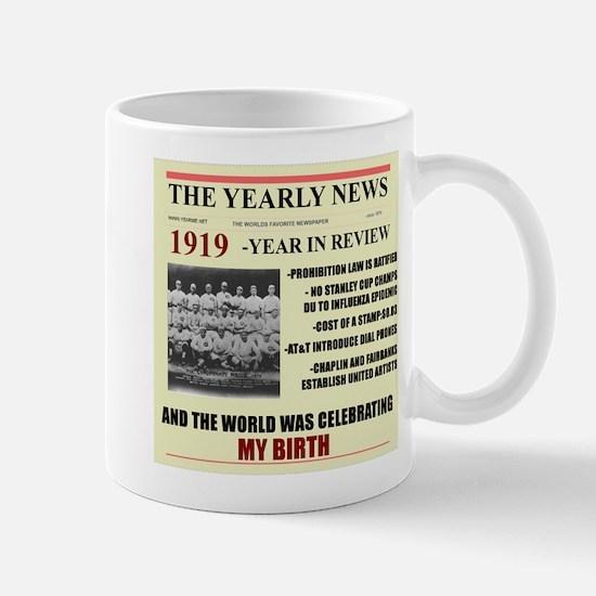 born in 1919 birthday gift Large Mugs