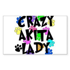 Crazy Akita Lady Decal