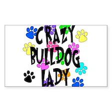 Crazy Bulldog Lady Decal