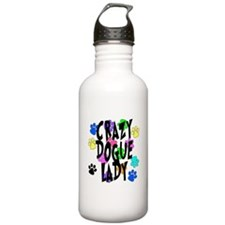 Crazy Dogue Lady Sports Water Bottle