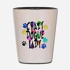 Crazy Dogue Lady Shot Glass
