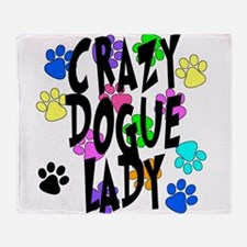 Crazy Dogue Lady Throw Blanket