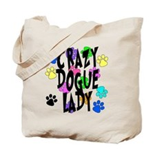 Crazy Dogue Lady Tote Bag