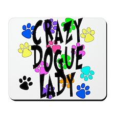 Crazy Dogue Lady Mousepad