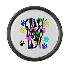 Crazy Dogo Lady Large Wall Clock