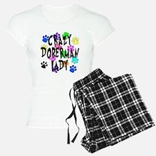 Crazy Doberman Lady Pajamas