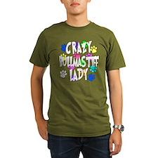 Crazy Bullmastiff Lady T-Shirt