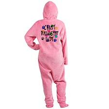 Crazy Bullmastiff Lady Footed Pajamas