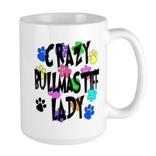 Crazy Bullmastiff Lady Mug