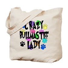Crazy Bullmastiff Lady Tote Bag
